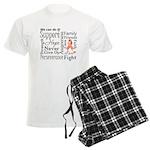 Uterine Cancer Words Men's Light Pajamas