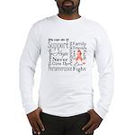 Uterine Cancer Words Long Sleeve T-Shirt