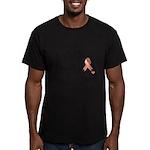 Uterine Cancer Words Men's Fitted T-Shirt (dark)