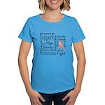 Uterine Cancer Words Women's Dark T-Shirt
