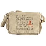Uterine Cancer Words Messenger Bag