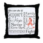 Uterine Cancer Words Throw Pillow