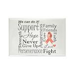 Uterine Cancer Words Rectangle Magnet (100 pack)