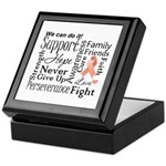 Uterine Cancer Words Keepsake Box