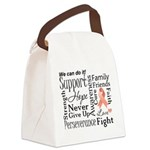 Uterine Cancer Words Canvas Lunch Bag