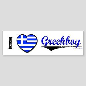 I &hearts Greekboy Bumper Sticker