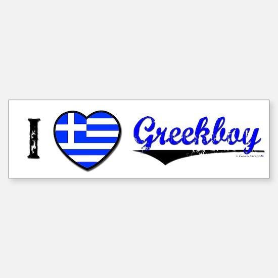 I &hearts Greekboy Bumper Bumper Bumper Sticker