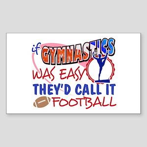 Gymnastics Was Easy Sticker (Rectangle)