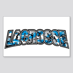 Lacrosse Blue Camo Sticker (Rectangle)
