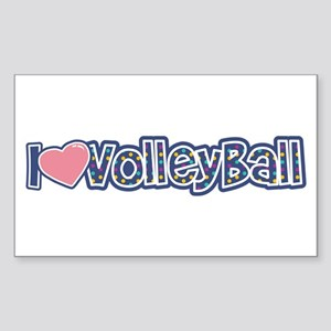 I love Volleyball Sticker (Rectangle)