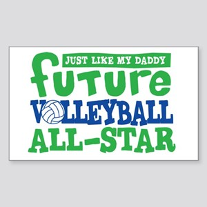 Future All Star Volleyball Boy Sticker (Rectangle)
