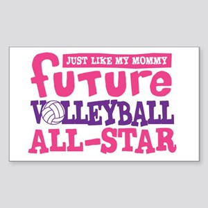 Future All Star Volleyball Girl Sticker (Rectangle