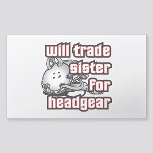 Wrestling Trade Sister For Headgear Sticker (Recta