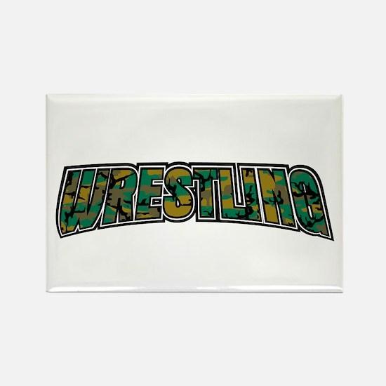Wrestling Camo Rectangle Magnet