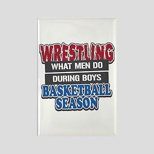 Wrestling What Men Do Rectangle Magnet