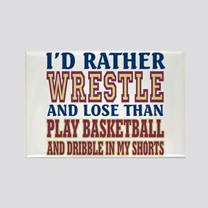Wrestling Dribble In My Shorts Rectangle Magnet