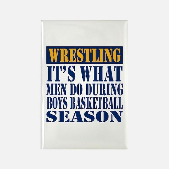 Boys Basketball Season Rectangle Magnet