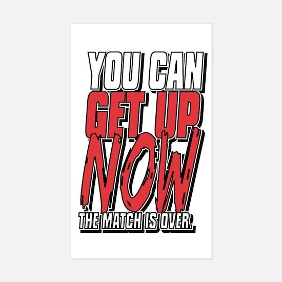 Wrestling Get Up Now Sticker (Rectangle)