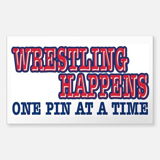 Wrestling Happens Sticker (Rectangle)