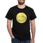 Asian Happy Face (Big) Black T-Shirt