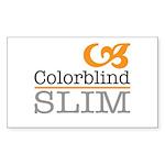 ColorblindSlimLogo Sticker (Rectangle 50 pk)