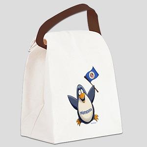 Minnesota Penguin Canvas Lunch Bag