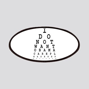 Obamacare eye test. Patches