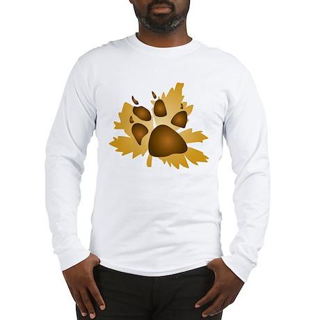 Pawprint On Leaf Long Sleeve T-Shirt