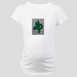 El lagartijo verde Maternity T-Shirt