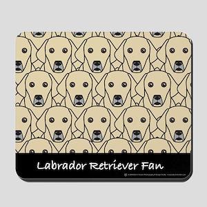 Yellow Labrador Retriever Fan Mousepad