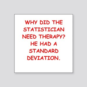 "statistics Square Sticker 3"" x 3"""
