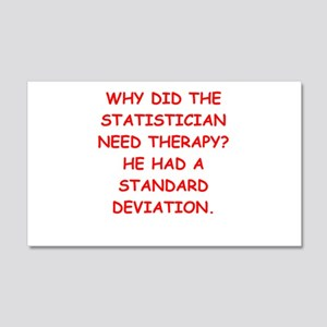 statistics 20x12 Wall Decal
