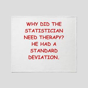 statistics Throw Blanket