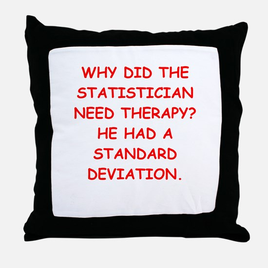 statistics Throw Pillow
