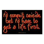 suicide.rect.sticker Sticker (Rectangle 50 pk)