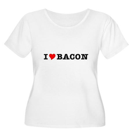 Bacon I Love Heart Women's Plus Size Scoop Neck T-
