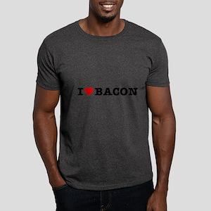 Bacon I Love Heart Dark T-Shirt