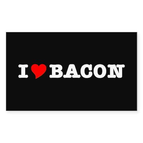 Bacon I Love Heart Sticker (Rectangle 10 pk)