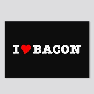 Bacon I Love Heart Postcards (Package of 8)