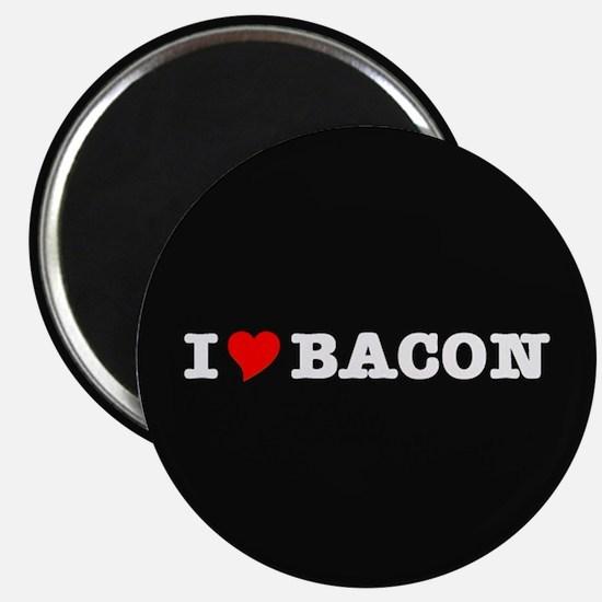 Bacon I Love Heart Magnet