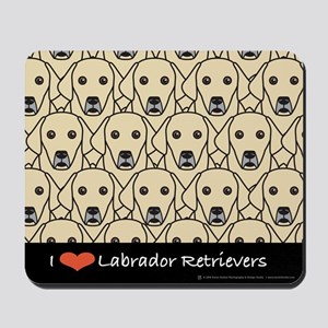 I Love Yellow Labs Mousepad