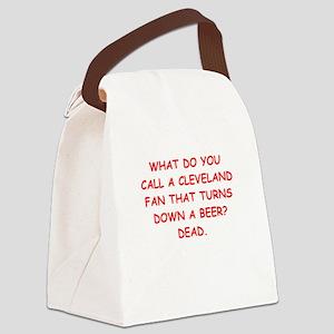 cleveland fan Canvas Lunch Bag