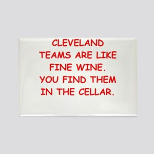 cleveland fan Rectangle Magnet