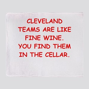 cleveland fan Throw Blanket