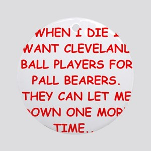 cleveland fan Ornament (Round)