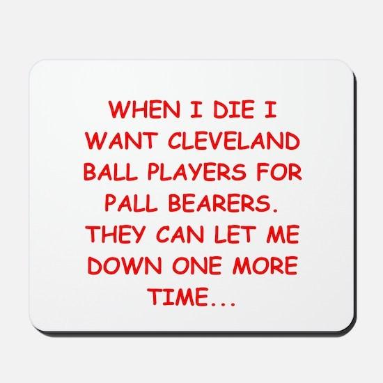 cleveland fan Mousepad