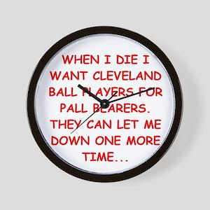 cleveland fan Wall Clock