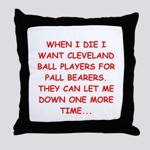 cleveland fan Throw Pillow