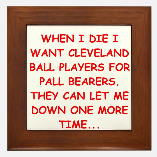 cleveland fan Framed Tile