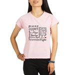Mesothelioma Cancer Words Performance Dry T-Shirt